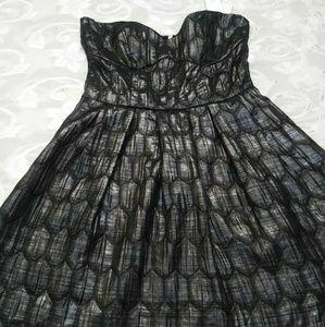 Mink Pink strapless gray dress